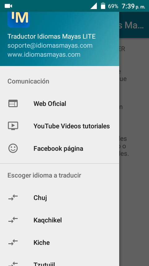 Traductor de Idiomas Mayas LITE
