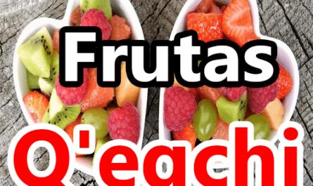 Frutas en qeqchi q'eqchi