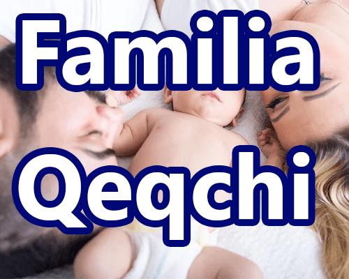 Miembros de la familia en Q'eqchi y español Integrantes de la familia