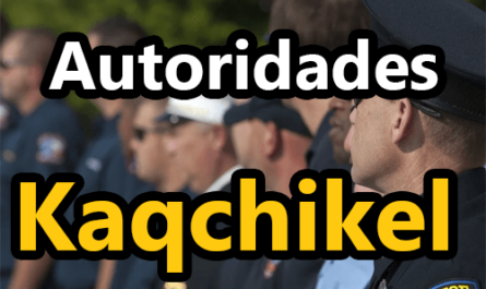 Autoridades en kaqchikel