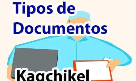 Tipos de documentos en kaqchikel y español